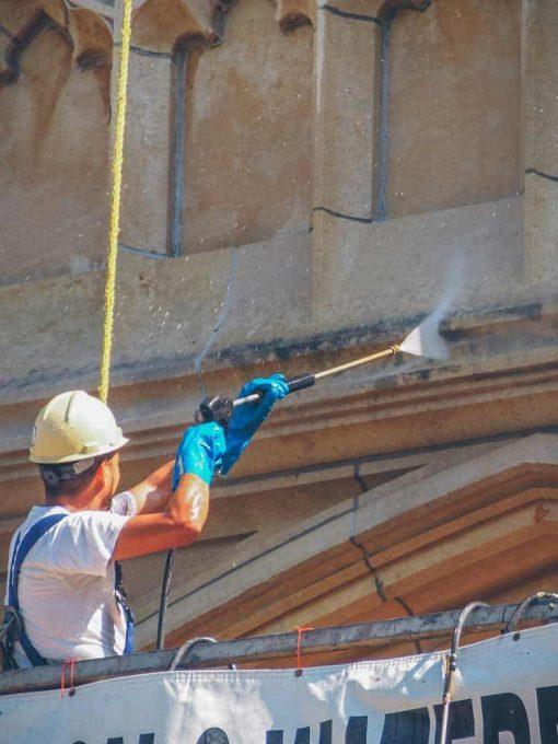 spraying application of Prosoco Enviro Klean Safrestore