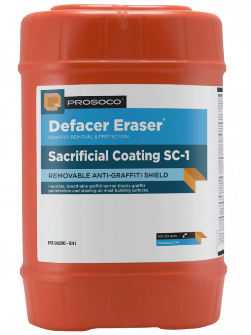 Defacer Eraser Sacrificial Coating